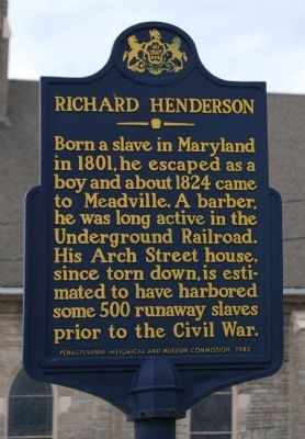Richard Henderson Marker image. Click for full size.