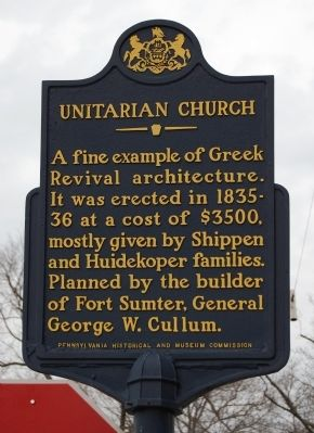Unitarian Church Marker image. Click for full size.