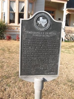 The James I. Perkins Family Home Marker image. Click for full size.