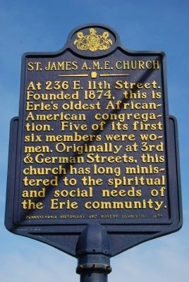 St. James A.M.E. Church Marker image. Click for full size.