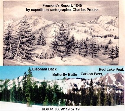 "Frémont's ""Long Camp"" at Carson Pass, February, 1844 image. Click for full size."