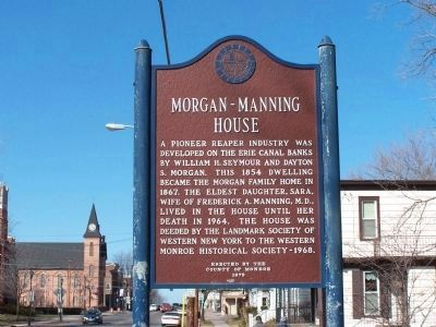 Morgan-Manning House Marker image. Click for full size.
