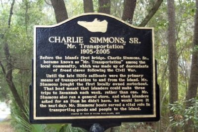 Charlie Simmons, Sr. Marker image. Click for full size.