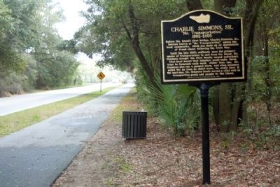 Charlie Simmons, Sr. Marker, looking south along Spanish Wells Road image. Click for full size.