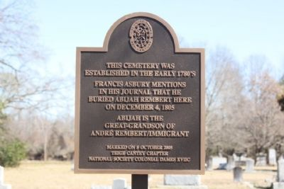 Rembert Cemetery Marker image. Click for full size.