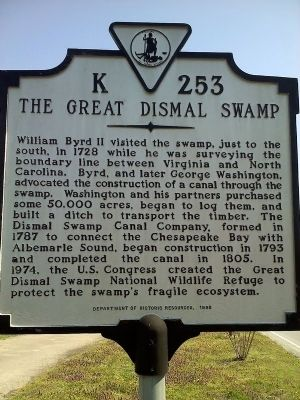 Great Dismal Swamp Marker image. Click for full size.