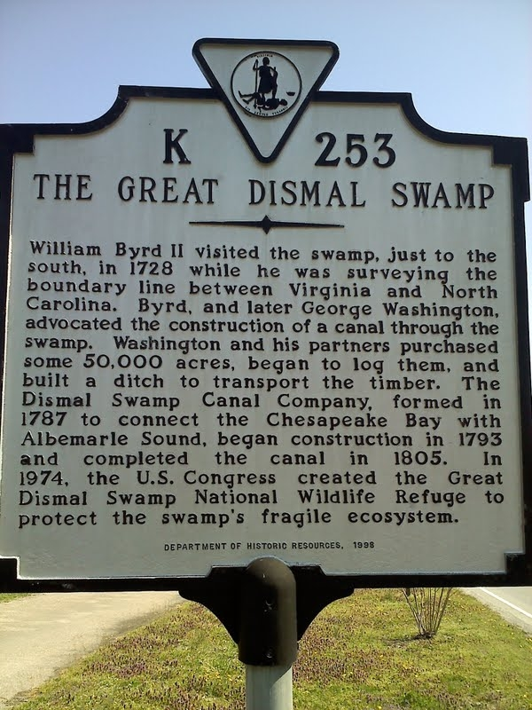 Great Dismal Swamp Marker