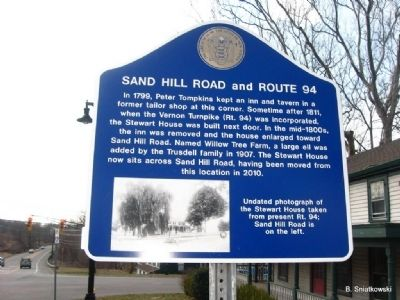 Sand Hill Road and Route 94 Marker image. Click for full size.