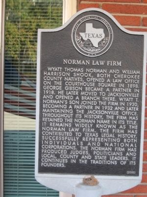Norman Law Firm Marker image. Click for full size.