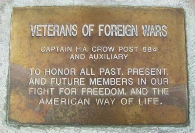 Capt H.A. Crow VFW Post 884 & Auxiliary Marker image. Click for full size.