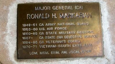 Maj Gen Ronald H. Markarian, CA State Mil Res image. Click for full size.