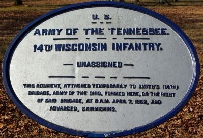 14th Wisconsin Infantry Marker image. Click for full size.