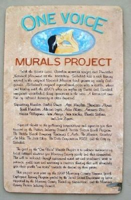 1998 One Voice Murals Project Marker image. Click for full size.
