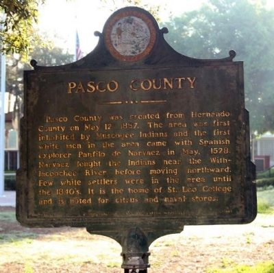 Pasco County Marker image. Click for full size.