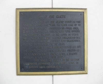 Site of Ship Niantic Marker image. Click for full size.