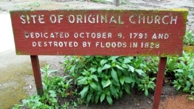 Site of Original Church Marker image. Click for full size.