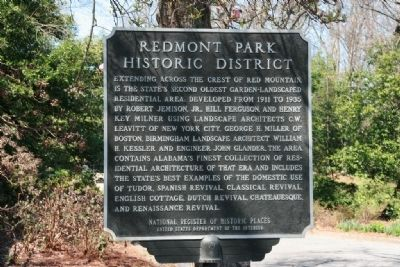 Redmont Park Historic District Marker image. Click for full size.