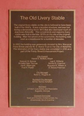 The Old Livery Stable Marker image. Click for full size.