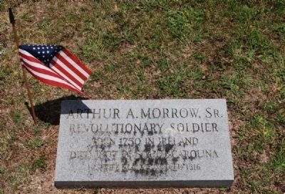 Arthur A. Morrow, Sr. Tombstone image. Click for full size.