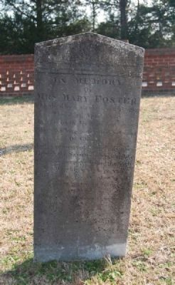 Mary Foster Tombstone -<br>Carved by White image. Click for full size.