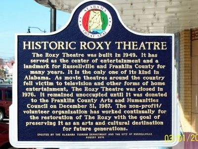 Historic Roxy Theatre Marker image. Click for full size.