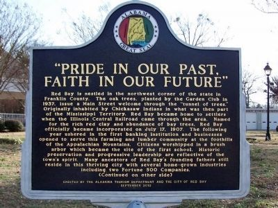 Pride in Our Past, Faith in Our Future Marker - Side A image. Click for full size.