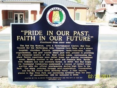 Pride in Our Past, Faith in Our Future Marker - Side B image. Click for full size.