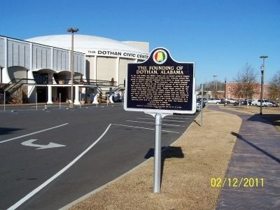 The Founding of Dothan, Alabama Marker image. Click for full size.