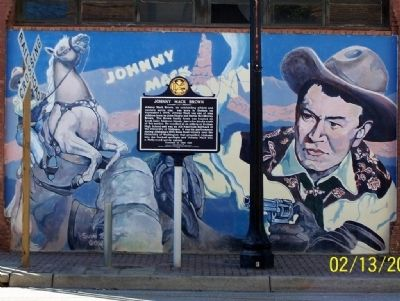 Johnny Mack Brown Marker and mural image. Click for full size.