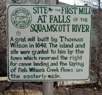 Site of the First Mill Marker image. Click for full size.