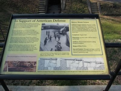 In Support of American Defense Marker image. Click for full size.