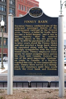 Finney Barn Marker image. Click for full size.
