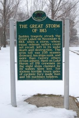 The Great Storm of 1913 Marker image. Click for full size.