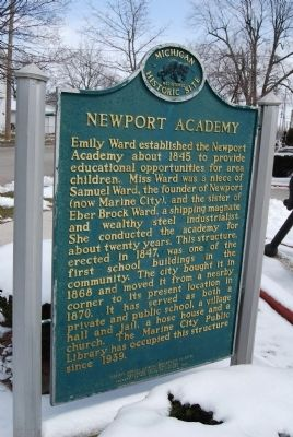 Newport Academy Marker image. Click for full size.
