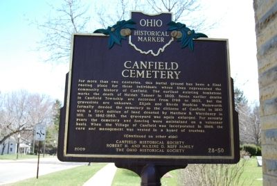 Canfield Cemetery Marker image. Click for full size.