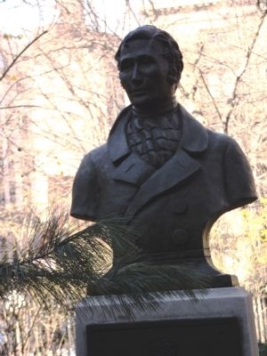 Bust of Daniel D. Tompkins image. Click for full size.