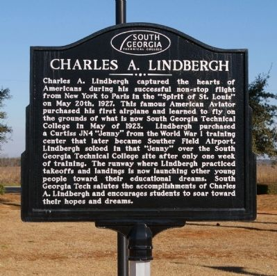 Charles A. Lindbergh Marker image. Click for full size.