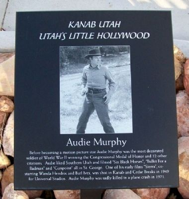 Audie Murphy Marker image. Click for full size.