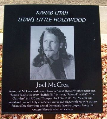 Joel McCrea Marker image. Click for full size.