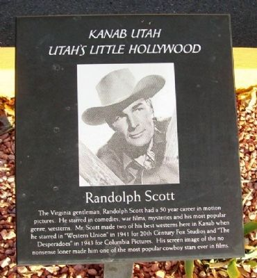 Randolph Scott Marker image. Click for full size.