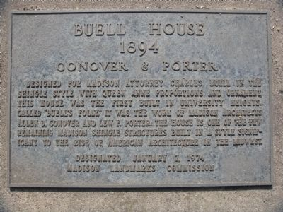 Buell House Marker image. Click for full size.