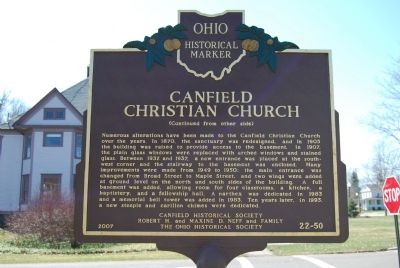 Canfield Christian Church Marker image. Click for full size.