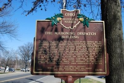 The Mahoning Dispatch Building Marker image. Click for full size.