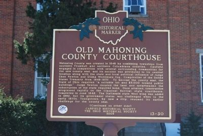 Old Mahoning County Courthouse Marker image. Click for full size.