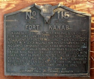 Fort Kanab Marker image. Click for full size.