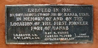 Fort Kanab Boy Scout Marker image. Click for full size.