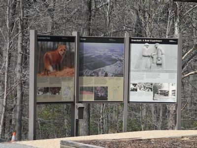 """Water"" Marker (center) on display near entrance to the park camping area image. Click for full size."