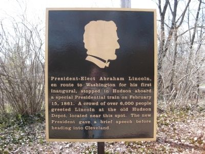 President-elect Abraham Lincoln Marker image. Click for full size.