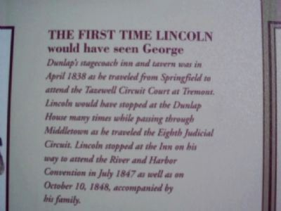 Middletown's Lincoln Marker image. Click for full size.