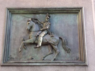 General Worth Equestrian Relief image. Click for full size.